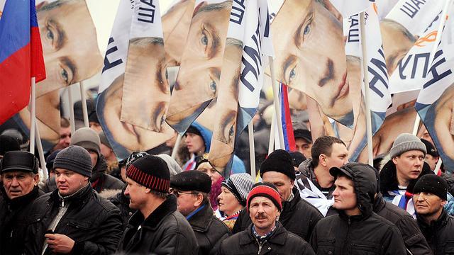 'Eindelijk protesteren tegen Poetin'