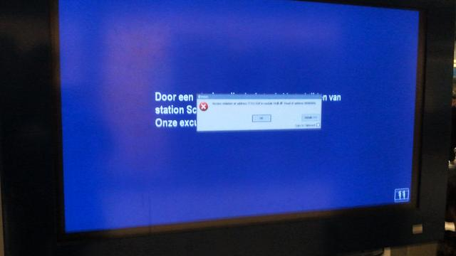 NS kampte met storing digitale borden