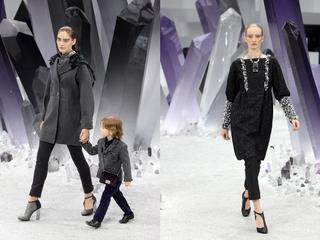 'Karl Lagerfeld toont verrassend silhouet tijdens Paris Fashion Week'