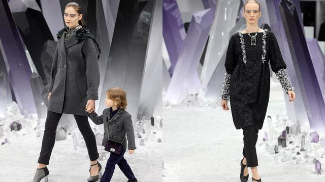 Levensgroot kristallendecor bij Chanel