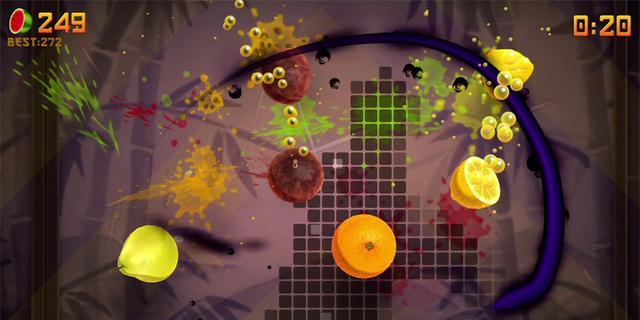 Fruit Ninja Kinect 2 duikt op