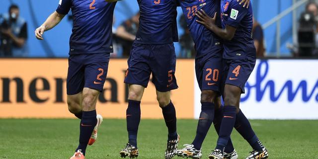 Oranje evenaart met 15 goals WK's 1974 en 1978