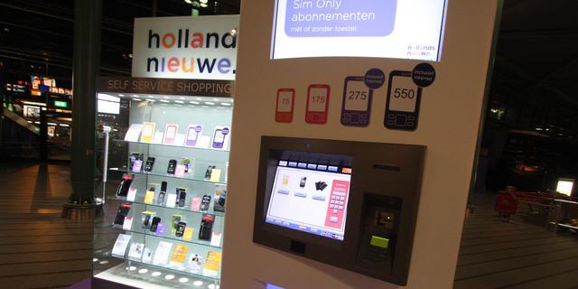 Hollandsnieuwe introduceert eerste automaat voor mobieltjes