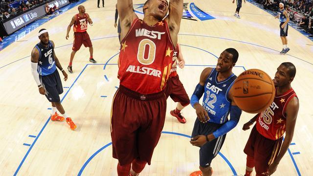 West verslaat Oost in All Star-wedstrijd NBA