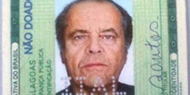 Braziliaan gepakt met vals ID Jack Nicholson