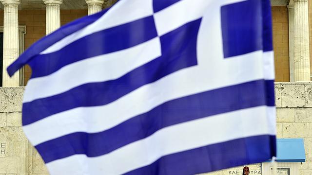 Honderden betogen op de Dam voor Griekenland