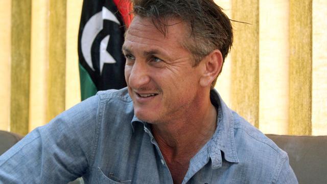 Acteur Sean Penn bezoekt Libië