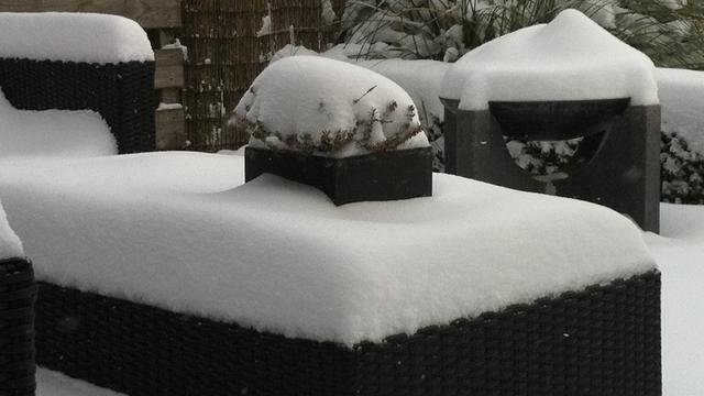 Tot 14 centimeter sneeuw in Nederland