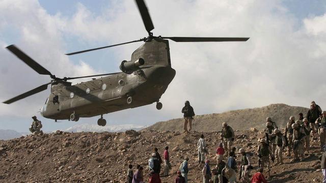 Chinook-heli's nu op Nederlands kamp in Mali