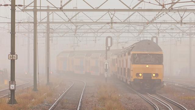 Fietser onder de trein in Zegge