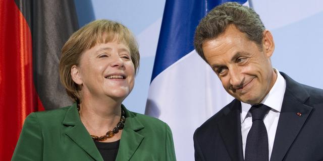 Merkel steunt Sarkozy in campagne