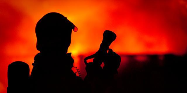 Brandweerman gewond tijdens bluswerk