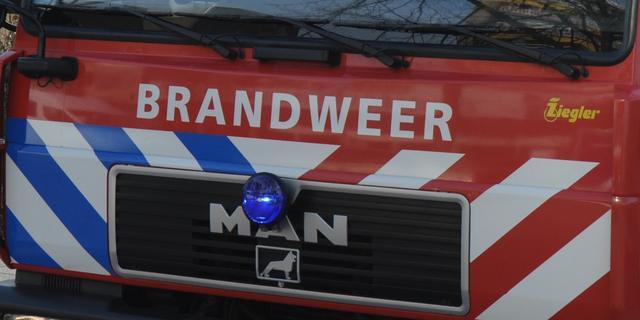 Brand in oude school in Katwijk