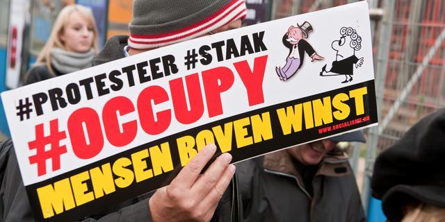 Occupy bestaat nog uit groepje doorzetters