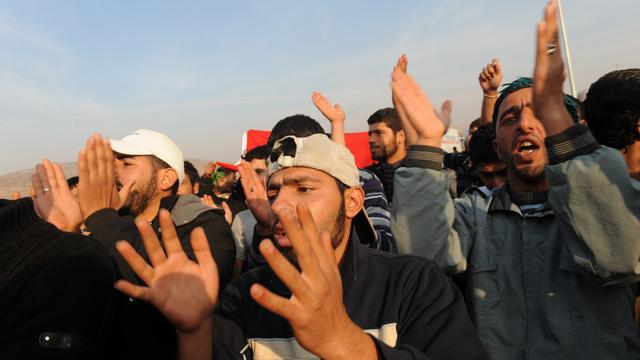 Begrafenissen worden steunbetuiging aan Assad
