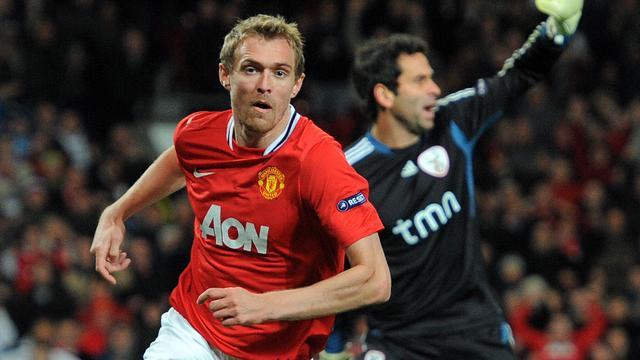 Darren Fletcher als speler van Manchester United.