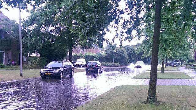 Regen veroorzaakt overlast in Overijssel