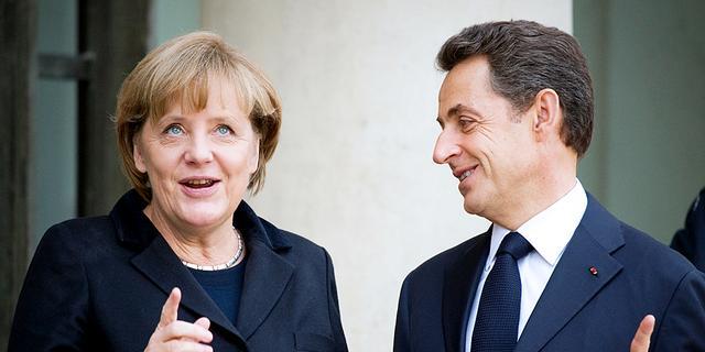 Extra beraad Merkel en Sarkozy voor EU-top