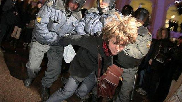 Protest in Moskou tegen Poetin