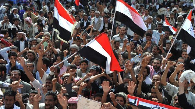 Betogers beschoten in Jemen