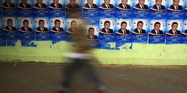 Lange rijen voor stemlokalen Caïro