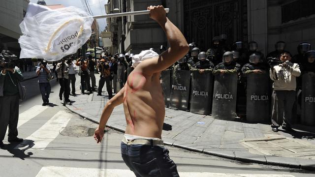 Gewonden bij studentenbetoging in Bolivia