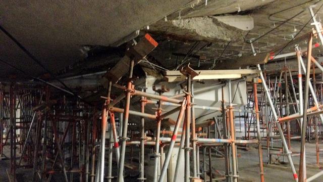 Verzakking onder winkelcentrum  't Loon verergert