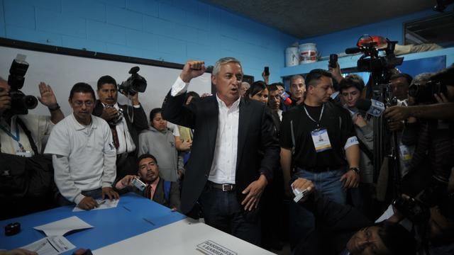 Pérez Molina winnaar verkiezingen Guatemala
