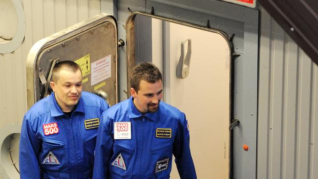 Marsreizigers 'landen op aarde' in Moskou