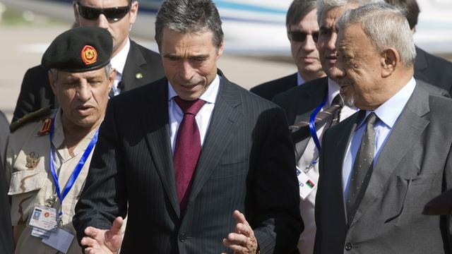Rasmussen in Libië voor NAVO-afscheid