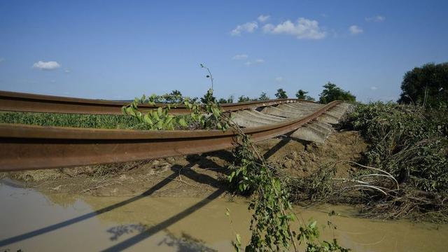 Overstromingen op Balkan houden aan
