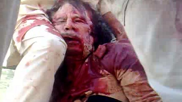 NTC doet toch onderzoek naar dood Kaddafi