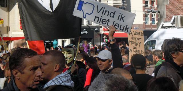 Tentenkamp Occupy Amsterdam iets groter