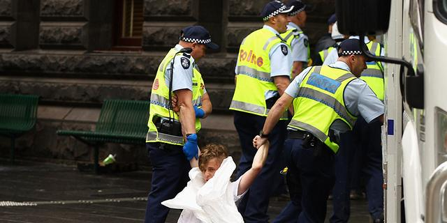 Melbourne breekt Occupy-protest op