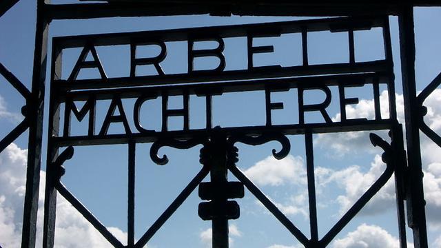 Poort gestolen uit concentratiekamp Dachau
