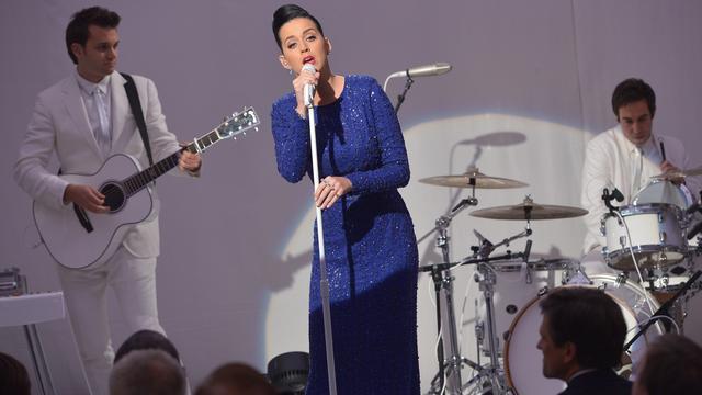 Katy Perry treedt weer op voor Obama