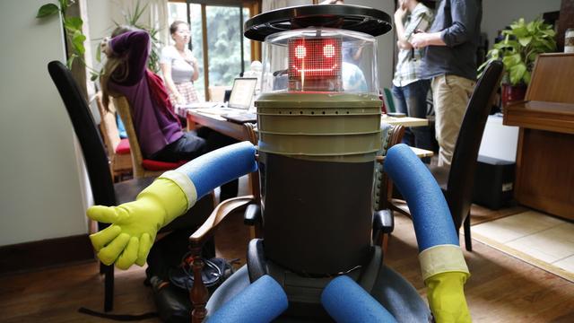 Robot liftend halverwege Canada