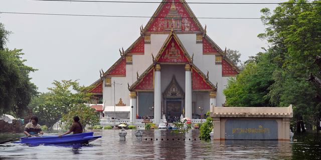 Noorden Bangkok dreigt te overstromen