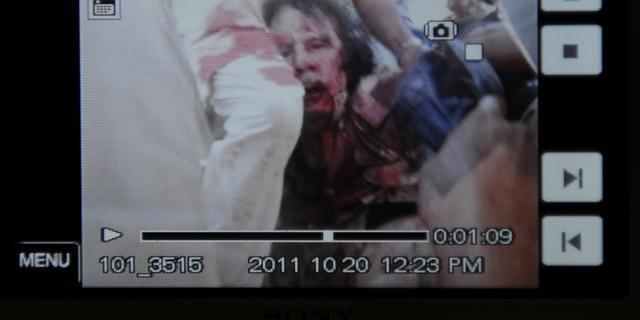 Muammar Kaddafi gedood