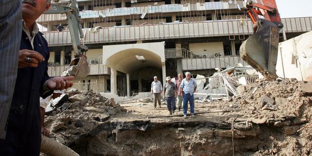 Doden door dubbele aanslag Bagdad