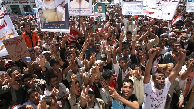 Ordetroepen Jemen doden betogers