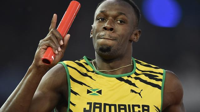 Bolt bezorgt Jamaica goud op estafette in Glasgow