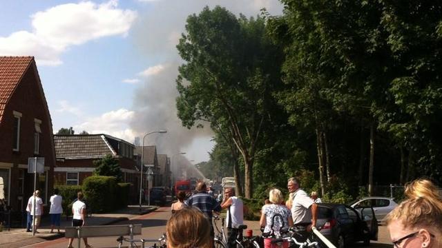 Leegstaand pand Bad Nieuweschans afgebrand