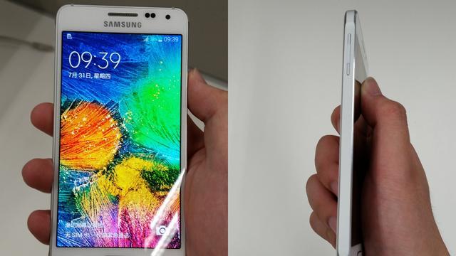 'Metalen Samsung Galaxy Alpha te zien op foto's'