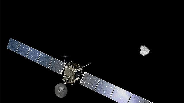 Europese ruimtesonde in baan om komeet