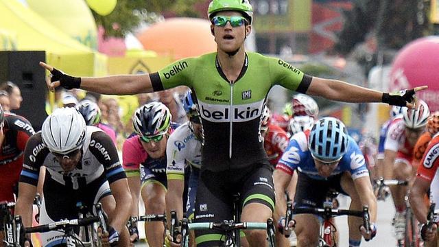 Theo Bos zegeviert in derde etappe Ronde van Polen