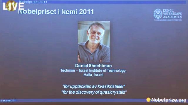 Nobelprijs Scheikunde naar Shechtman
