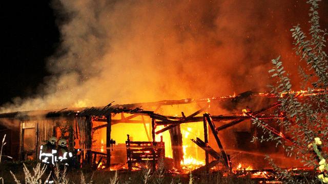 Wietplantage ontdekt bij grote brand