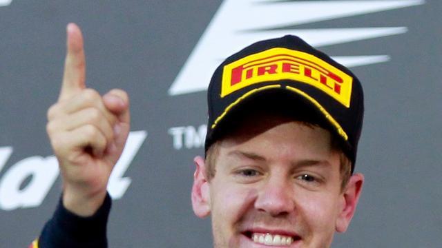 Vettel stelt titel in Formule 1 veilig