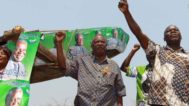Oppositieleider wordt nieuwe president Zambia